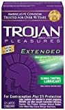 Bundle Package Of Trojan Extended Pleasure 12Pk And a Bottle of 1.7 -oz Personal Silicone Lubricant