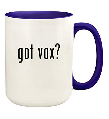 got vox? - 15oz Ceramic Colored Handle and Inside Coffee Mug Cup, Deep Purple