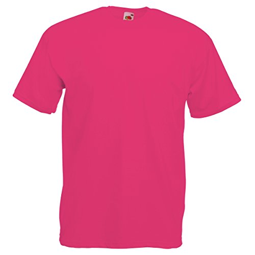 Fruit Of The Loom Herren Kurzarm T-Shirt M / 97-102cm Brust,Fuchsie