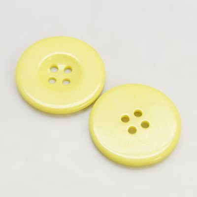 Packet 10 x Dark Purple Resin 30mm Round 4-Holed Sew On Buttons HA10475