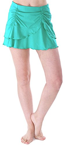 BAWDY Womens Summer Solid Colored Cover Up Skirt