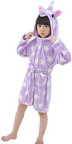 LANTOP Bathrobe Unicorn Flannel Sleepwear