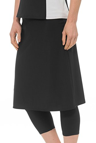 Women's Swim Skirt with Attached Leggings- UV Protection Cover Up- Plus Sizes Available
