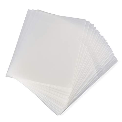 Project Folder Letter - Paper Junkie 24-Pack Clear Project Protector Folders for Letter Size Documents, 11.4 x 8.9 Inches