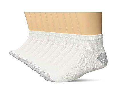 20 Socks Ankle Socks Shoe Size 6-12 White 10-13
