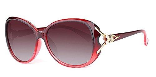 rote Luz polarisiertes zhenghao Polarizada Cómodas Sol Purpura Redondas Gafas licht De Mujer Xue Gafas De Sol para 4n6Zwxx7