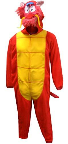 Disney Men's Mulan Mushu Dragon Onesie Pajama (2XL/3XL)