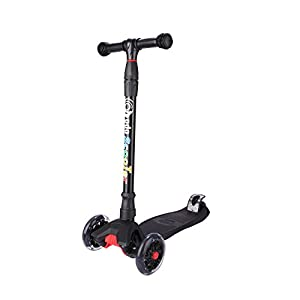 E EVERKING Kick Scooter For Kids 3 Wheel Scooter Lean To Steer 4 Adjustable Height Glider Ride On PU Flashing Wheels for Children 3-10 Year Old