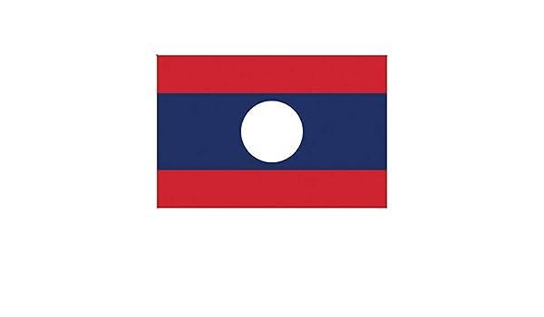 Two Pack Laotian Flag Sticker FA Graphix Decal Self Adhesive Vinyl Laos LAO LA