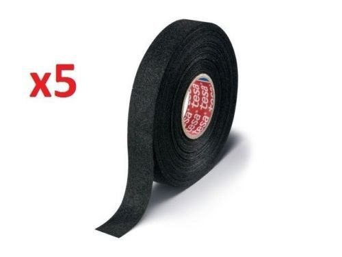 Tesa 51608, 15m X 19mm Adhesive Wiring Loom Cloth Tape Original Isoband 5 Pcs Pack ()