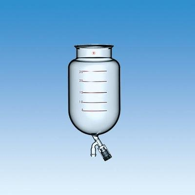 Ace Glass (ACE GLASS 6522-83 Series Cylindrical Reaction Flask with Bottom Outlet, 200 mm O-Ring Groove Flange, Flush-Seal Bottom Valve, 30L Capacity)