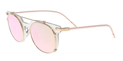 Dolce & Gabbana DG2196 12984Z Clear Mirror Oval Sunglasses ()