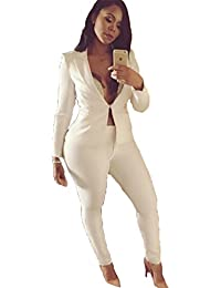 Amazon.com: White - Pantsuits / Suit Sets: Clothing, Shoes & Jewelry
