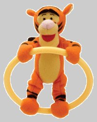 Disney Pooh - Tigger Teething Ring by Learning Curve (Discontinued by Manufacturer)