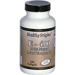 Healthy Origins Natural Vitamin E, 400IU, 180 Sgel