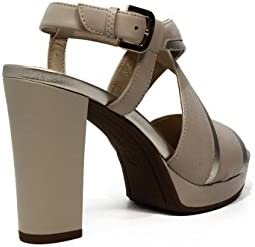 Geox D724LD085NF Sandalo Donna LT TaupeLT Gold 40: Amazon