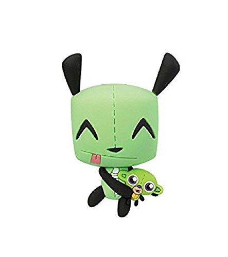 Invader Zim Collectors Keyring ~ GIR with Stuffed Monkey Plush Keychain (Opened to ()