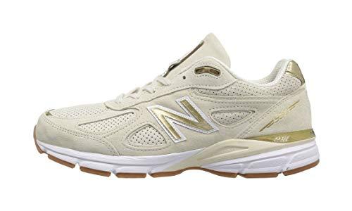 - New Balance Men's 990v4 Running Shoe, Angora/White, 10.5 D US