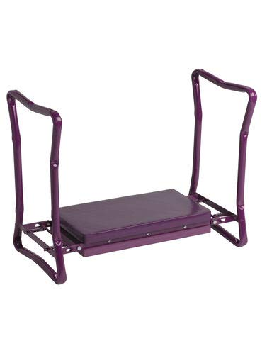 Gardener#039s Supply Company Extra WideSeat Folding Garden Kneeler Purple