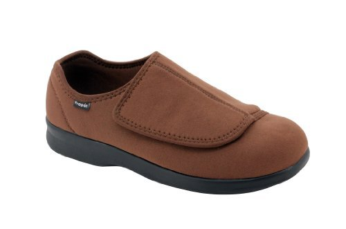 Propet Men's Cush N Foot Slipper, Brown, 11 5E US