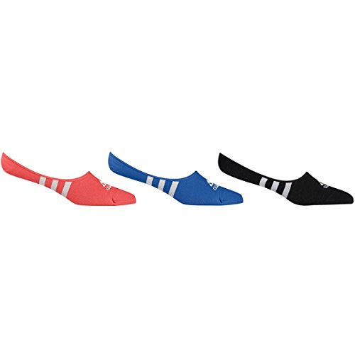 Adidas Golf 2017 Women's ClimaCool 3-Stripes No Show Sock - 3 Pack (Black/Easy Coral/Blue - 5-7.5)