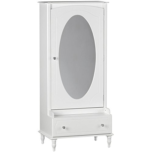 Little Seeds Rowan Valley Laren Armoire with Mirror, White (Drawers Of Black Narrow Chest)