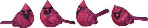 (Mini Resin Cardinal Bird Figurine Set of)