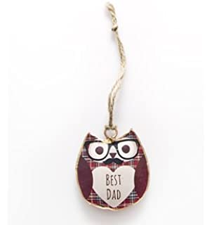 SASS AND BELLE VINTAGE SHABBY CHIC OWL HANGING DECORATION WHITE GIFT