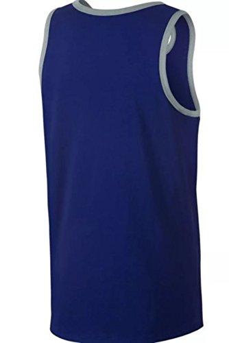 Nike Mens Asso Logo Canotta Royal / Heather / Bianco / Blu