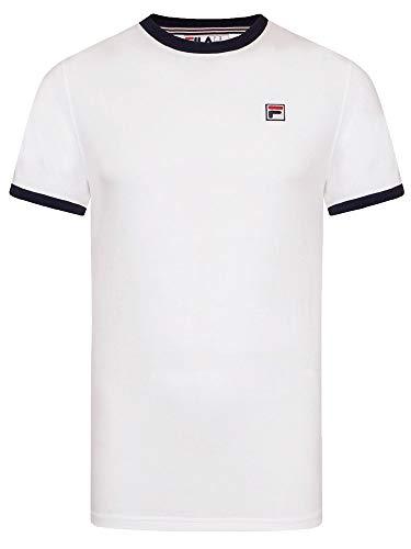 Fila Mens Marconi White Black Ringer T Shirt - XXL ()