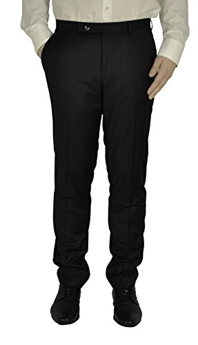 Michaelax-Fashion-Trade -  Pantaloni da abito  - Straight  - Basic - Uomo Schwarz(99) 44