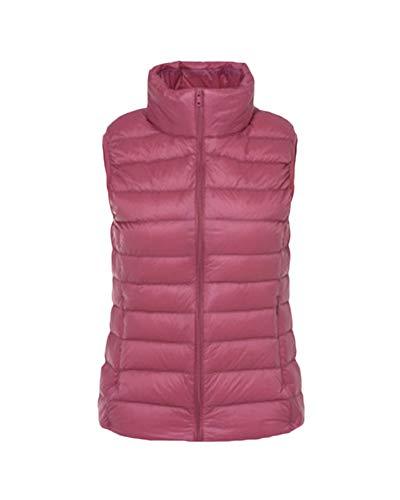 Women's Down Gilet Coat Vest Ultra Light Weight Packable Puffer Jacket Light Skin Pink