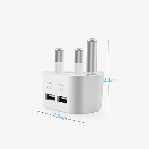 South Africa Power Adapter SMAZ LIFE Absolute Safe Type M Converter Dual  USB Travel Plug Charger Adaptor Fire Retardant Material SABS IEC and CE