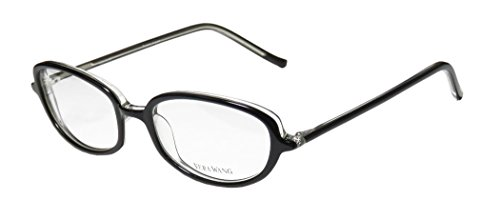 Vera Wang V40 Womens/Ladies Ophthalmic Inexpensive Designer Full-rim Eyeglasses/Eyeglass Frame (49-17-133, Black)
