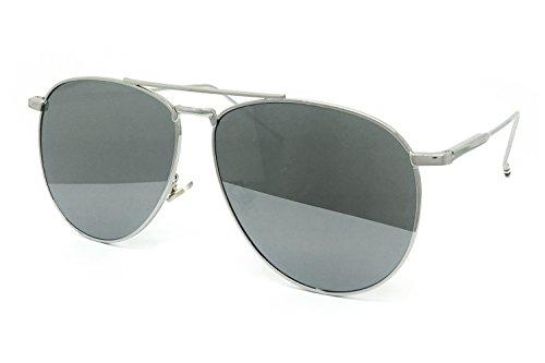 O2 Eyewear 97025 Premium Oversized Flat Aviator Mirrored Sunglass Womens Mens (PREMIUM FLAT, SOLID - Sunglasses Oversized Aviator
