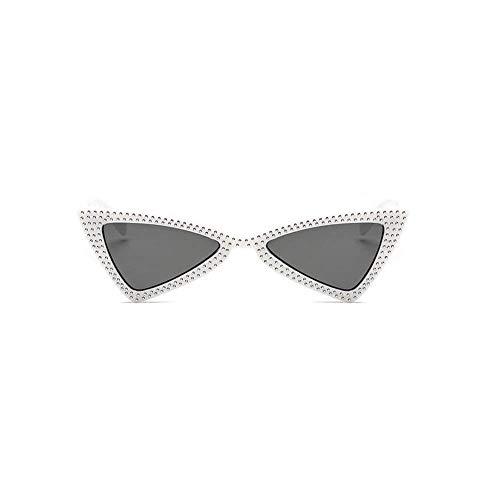 Christmas gifts Small Triangle Sunglasses Women Luxury Cat Eye Sun Glasses Ladies Black Fashion Shades,9 ()