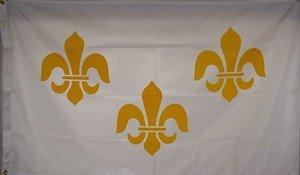 French Fleur-De-Lis 3 Fleurs  Flag Nylon 3 ft. x 5 ft.