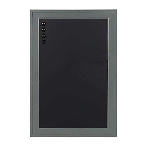 DesignOvation Bosc Framed Magnetic Chalkboard, 18.5x27.5, Gray