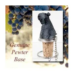 1 X Kerry Blue Terrier Dog Wine Bottle Stopper - DTB114 by Conversation Concepts 37
