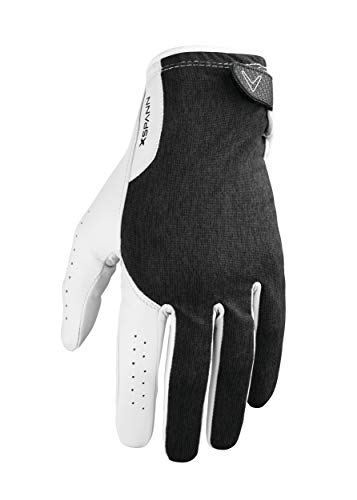Callaway Golf Men's X-Spann Compression Fit Premium Cabretta Leather Golf Glove, Worn on Left Hand, Large