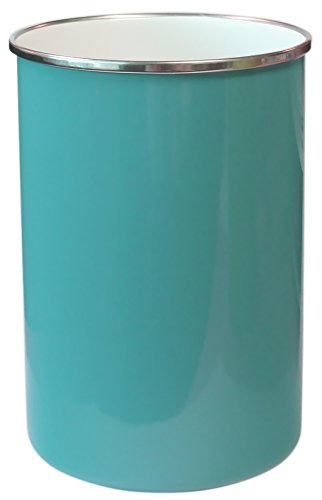 Calypso Basics by Reston Lloyd Enamel on Steel Utensil Holder, Turquoise