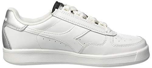 C0516 Elite Gimnasia Multicolor de Diadora Bianco para B Argento Mujer Zapatillas Wn FqXwP