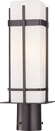 (Minka Lavery Outdoor Post Lights 72356-615B-PL Sterling Heights Exterior Post Lantern, 26w Fluorescent, Bronze)