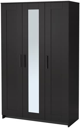 Armadio Ikea Due Ante.Ikea 2028 81120 218 Armadio A 3 Ante Colore Nero Amazon It Casa E Cucina