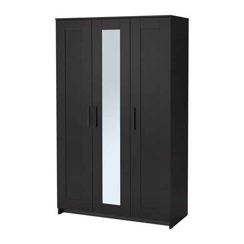 Amazon.com: IKEA Wardrobe with 3 Doors, Black 2028.81120.218 ...
