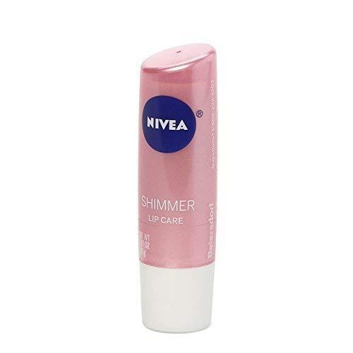Nivea Shimmer, Radiant Lip Care, 0.17 oz (4.8 g)(pack of 3) (Nivea Lip Balm A Kiss Of Shimmer)
