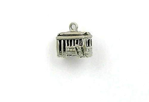 Pendant Jewelry Making/Chain Pendant/Bracelet Pendant Sterling Silver 3-D Cable Car Charm