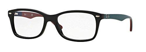 Ray-Ban Women's Rx5228 Square Eyeglasses,Top Black & Text...