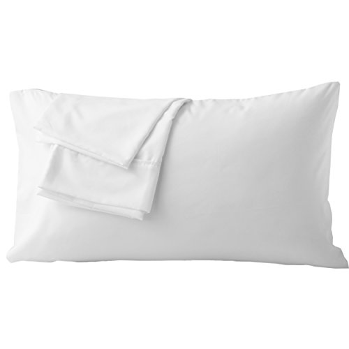 (Pillowcases King White Envelope Closure End Easy Fit for Summer Soft and Breathable Machine Washable Pack of 2)