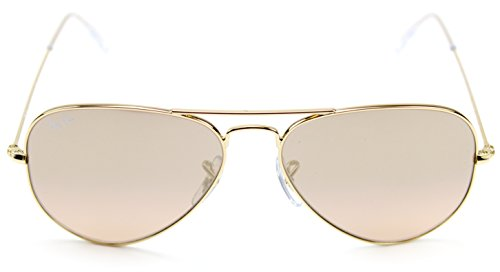 0b95f17d28c Ray-Ban RB3025 001 3E Gold Frame   Brown-Pink Silver Flash Lens 55mm   Amazon.co.uk  Clothing